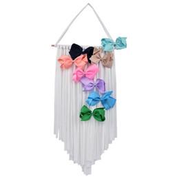 Girls hair belt online shopping - INS Baby Hair Bow Holder Hanger Girls Hairs Clips Storage Organizer Portable Hairwear Belt Kids Hair Bow Hanger Novelty Items CCA11749