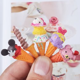 wholesale ice cream jewelry Australia - 5PCS Ice Cream Mini Cartoon for 16 Blyth doll 14 BJD Dollhouse Miniature Pretend Toys Doll Accessories Dolls & Accessories Kitchen Food for