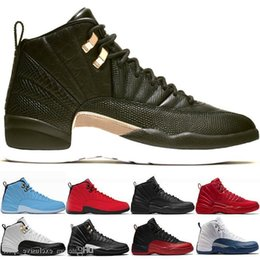 game master Australia - 12s 12 Mens Basketball Shoes 2019 New Midnight Black Michigan Flu Game The Master Gym Red Xii Designer Sport Sneakers Trainers Size 41-47