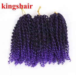 Bundle Pack Extensions Australia - Bohemian Style Mali bob Kinky Twist Hair Synthetic Jerry Curly Crochet Braid Hair Extensions 8inch Ombre 613 Bug MaliBob 3 Bundles Pack