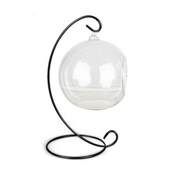$enCountryForm.capitalKeyWord Australia - H23cm Ornament Display Stand Iron Hanging Rack Holder For Hanging Glass Globe Air Plant Terrarium Witch Ball Wedding Home Decor