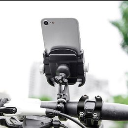 Universal phone moUnt for bicycle online shopping - Aluminum Alloy Universal Bicycle Motorcycle Handle Bar Mount Cell Phone Holder Stand Bike Hook For Inch Mobile Phone GPS