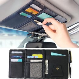 Sun Visor Organizers Australia - Stowing Tidying Car Sun Visor Organizer,Auto Interior Pocket Sunglass Pen Holder Parking Fuel Card Change Storage 30x14cm