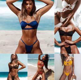 789a4a1d57d8a 2019 Brand Sexy Bikinis Swimwear Women Swimsuit High Waisted Brazilian  Bathing Suits Swim Halter Push Up Bikinis Set Padded Bra Beach Wear