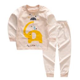 Infant Sleepwear Summer Australia - quality Spring Children Clothes Sets Baby Girls Boys Suits Cartoon Pajamas Cotton T Shirt+Pants Infant Kids Casual Sleepwear