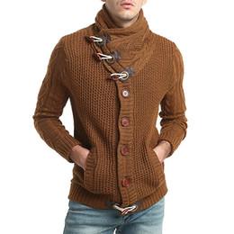 $enCountryForm.capitalKeyWord UK - Fashion Men's Sweater Casual Slim Knitting Button Down Sweater Knitwear Coat Low price sale