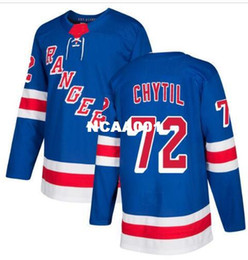 new york rangers jerseys UK - Real Men real Full embroidery Customize #72 Filip Chytil New York Rangers Chytil Hockey Jersey or custom any name or number