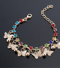 $enCountryForm.capitalKeyWord Australia - Colorful diamond micro-set crystals Butterfly bells vintage bracelets variety selection Ebay hot sale national jewelry