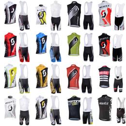 $enCountryForm.capitalKeyWord Australia - Morvelo SCOTT team custom made Cycling Sleeveless jersey Vest bib shorts sets Summer Men's Comfort Mountain Bike Suit S62144
