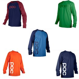 Nylon Coating Australia - Motorcycle Apparel Cross-country sweater mountain bike riding cycling suit POC downhill coat motorcycle suit racing suit series