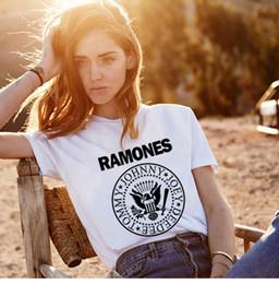 $enCountryForm.capitalKeyWord Australia - Promotion Summer Women Ramones T Shirt Femme Womens Shirts Womens Tshirt Punk Rock Print Ulzzang T Shirt Women Band Tee Shirts Y19061001
