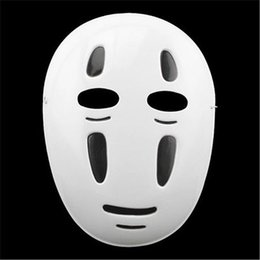 japanese cartoon anime adult Australia - Wholesales 10pcs lot Spirited Away Halloween mask cartoon No face male Party Masks Japanese Anime Black Purple Wind Props