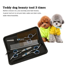 pet edge UK - 6 inch stainless steel Pet Scissors Dog Grooming Scissors Set Straight & Curved & Thinning Shears Sharp Edge Pet Haircut Tools