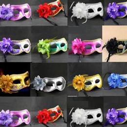 $enCountryForm.capitalKeyWord Australia - 20pc Hot sale Sexy Hallowmas Venetian mask,masquerade masks,with flower mask Dance party mask H22