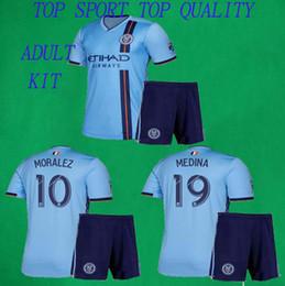 46a1ec5ffa8 2019 NYC Soccer Jersey Shorts 19 20 New York Home DAVID VILLA PIRLO LAMPARD  Football Kits Thai Quality Adult Blue Soccer Sets