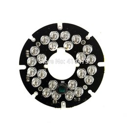 China 2PCS Lot 24 PCS LEDs 5mm Infrared IR 90 Degrees Bulbs Light Board 850nm For CCTV Security Camera suppliers