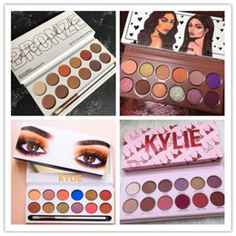 Kylie eyeshadow online shopping - Top quality Color kylie Royal Peach Palette Eyeshadow with Pen Brush Cosmetics Eye shadow Kylie Jenner color Eyeshadow Palette Kyshadow