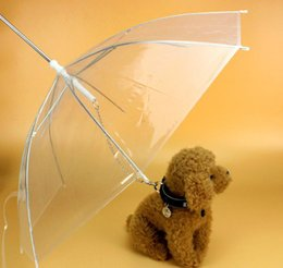 Dogs Gear Australia - PE Pet Umbrella Transparent Small Dog Puppy Umbrella Rain Gear with Dog Leads Keeps Pet Travel Outdoors Supplies