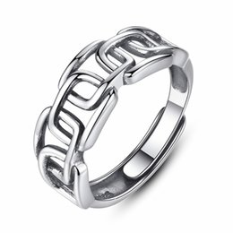 925 Sterling Silver Knuckle Rings Australia - Trendy Exquisite Adjustable Cuff Rings for Women Genuine 925 Sterling Silver Knuckle Ring Fine Jewelry Men's Silver Ring