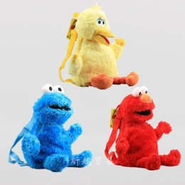sesame toys Australia - Sesame Street ELOM backpack plush toy for child gifts 45cm