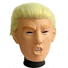 EastEr fancy drEss online shopping - 2019 Hot Selling Top Grade Rubber Human Face Mask Realistic Box Gift Party Halloween Dress Latex Donald Trump Mask for Cosplay Fancy dress