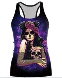 shirt 3d skull print 2019 - Newest Ghost Skull Dark Sugar Jack Skellington Sexy Printed Tops Sleeveless Hollow Out O Neck Casual Tank 3d Vest Bodybu