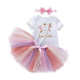 dd8efc690e3 good quality Kids clothes girls Newborn Baby Girls Clothing Set Letter  Romper +Rainbow Tutu Dress Outfits Set conjunto infantil