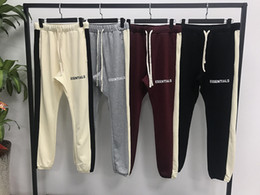 Urban printing online shopping - 2019 New hiphop Fashion jogger urban clothing bottoms FOG Essentials Side Stripe Sweatpants Pants