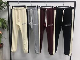 Venta al por mayor de 2019 Nuevo hiphop Fashion jogger ropa urbana fondos FOG Essentials Side Stripe Sweatpants Pantalones