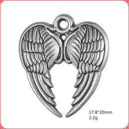 $enCountryForm.capitalKeyWord Australia - 30pcs Antique vintage tibetan silver fairy angel heart wing charms dangle alloy pendants for necklace bracelet earring diy jewelry making