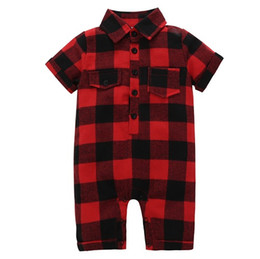 $enCountryForm.capitalKeyWord UK - DHgate Of Best-selling Product Boys And Girls Red Checked Short-sleeved Jumpsuit From China Supplier