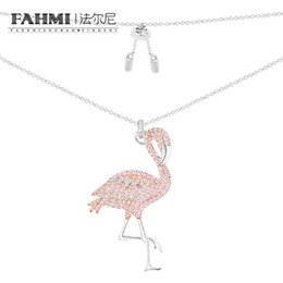$enCountryForm.capitalKeyWord NZ - FAHMI 100% 925 Sterling Silver JANVIER Series with Pink Crystal Diamond Flamingo Shape Item High Quality Women's Jewelry Free Shipping