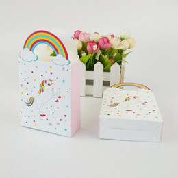 $enCountryForm.capitalKeyWord Australia - Unicorn Gift Bags Party Supplies Wedding Favor Candy Bag Paper Giffs Packing Bags Pouches for Party Decor Wrapping Supplies