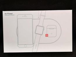 Carregador sem fio três em um para AirPower apple watch rapidamente carrega 5V 2A para iPhone 8 transmissor sem fio iPhone X xr xsmax em Promoção