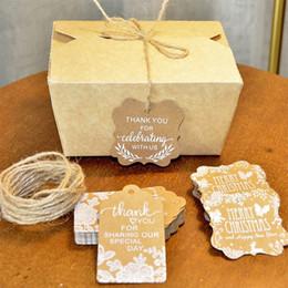 $enCountryForm.capitalKeyWord Australia - Christmas Label Xmas Gift Tags Cookie Ornament 50pcs Pack Craft Paper Birthday Clothes Wedding Diy Festival Creative