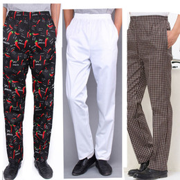China Chef Trousers Food Service Checked Striped Pants Elastic Peppers Restaurant Kitchen Pants Bakery Stretch Work Wear Uniform Cook suppliers