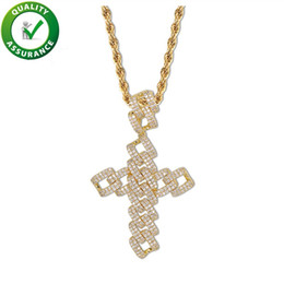 rappers jewelry 2019 - Hip Hop Jewelry Cross Necklace Iced Out Chains Luxury Designer Mens Gold Chain Pendants Diamond Bling Pandora Style Char