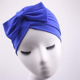 $enCountryForm.capitalKeyWord Australia - 10 Colors Modern Party Headband Fashion Instant Basic Chic Headwrap Wear Cap Elastic Bow Knot Chemo Turbans for Women Girls CHBT23