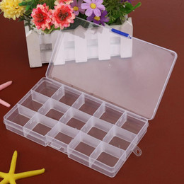 Box Case Fish NZ - 15 Grids Removable Plastic Storage Box Jewelry Box Beads Earring Tools Container Case Fishing Hook