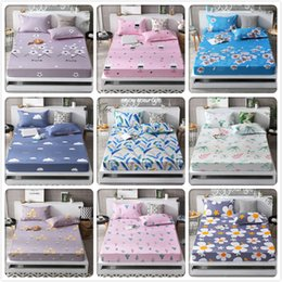 Lilac Linen Sheets Australia - 2019 New Autumn Winter 1pcs Fitted Sheet High Quality Mattress Cover with Rubber Elastic Band Adult Kids Child Bed Linen 150x200