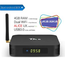 $enCountryForm.capitalKeyWord NZ - TX6 4GB RAM 32GB ROM Android 7.1 TV Box Allwinner H6 Quad Core Media Player 2.4G 5G Wifi Bluetooth 4.1 4K HD Smart Set Top Box 2019 New
