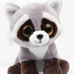 $enCountryForm.capitalKeyWord UK - 26CM New Ty Beanie Big Eyes Stuffed Animals Raccoon bear panda Pig Plush Toys Plush For Children girl Christmas New Year Gifts