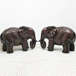 $enCountryForm.capitalKeyWord UK - Wooden Hand-carved Elephant Chinese Style Handicraft Decoration Auspicious Treasure Elephant Oak Pear Wood Home Decoration