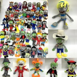 Plants Vs Zombie Figures Australia - 19 styles 20-30CM 7.87-11.81'' Plants Vs Zombies Soft Plush Toy Doll Game Figure Statue Baby Toy for Children Gifts