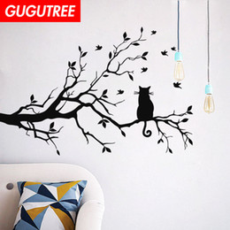 bird design wallpaper NZ - Decorate Home trees bird cartoon art wall sticker decoration Decals mural painting Removable Decor Wallpaper G-1736