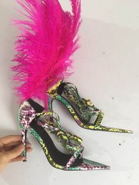 $enCountryForm.capitalKeyWord Australia - fashion T show new feather style cross band super high heel sexy ladies shoes hollowed-out women sandals