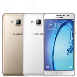 Refurbished 4g Mobiles NZ - Original Samsung Galaxy On7 G6000 Mobile Phone Quad Core 5.5''13MP 4G LTE 16GB Refurbished Dual SIM Android Phone