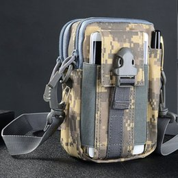 Molle Bags Packs Australia - 1000D Tactical bag Molle Oxford Waist Belt Bags Wallet Pouch Purse Outdoor Sport Pack EDC Camping Hiking Bag 7 colors #250964