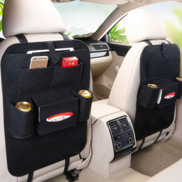 back seat storage organizer Canada - Car Back Seat Rear Trunk Elastic Felt Storage Bag Multifunction Hanging Organizer Auto Travel Holder Anti Kick Car Accessories