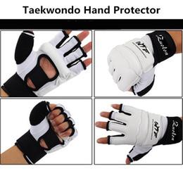 $enCountryForm.capitalKeyWord Australia - Kids Adult Half Finger Fight Boxing Gloves Mitts Sanda Karate Sandbag Protector For Mma Muay Thai Kick Boxing Training White